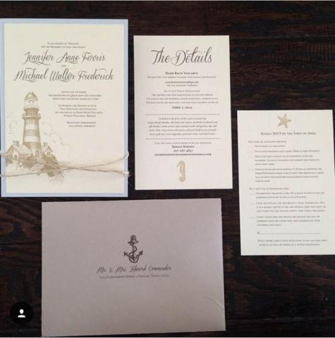 Nautical Invitation; Lighthouse, Anchor Invitation