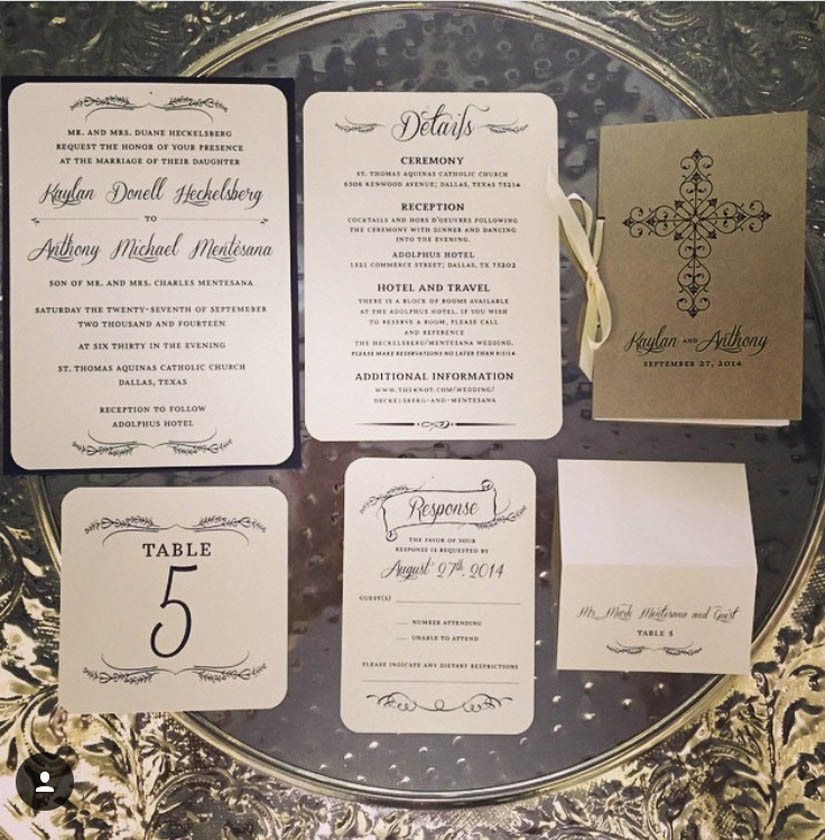 Navy & Ivory Invitations