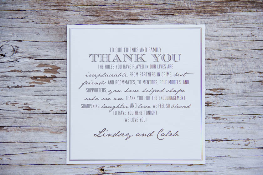 Taupe & Ivory Wedding Thank You Card