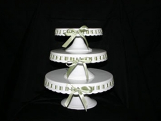 Cupcake Tower w/Colored Ribbons