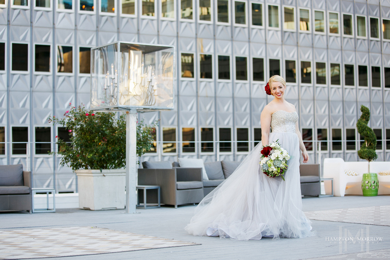 7 Venue At 400 N Ervay Wedding Gray Dress Red