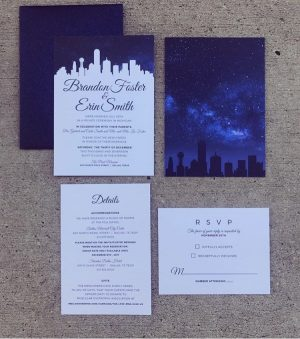 Blog significant events of texas event wedding coordination feel to their invitations and significantly said invitation designer abby leal delivered on all levels creating their dallas night sky invitation suite stopboris Choice Image